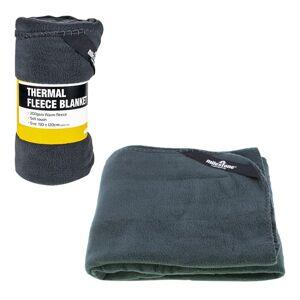 Milestone Camping Milestone Black Thermal Polar Fleece Blanket, Stay Warm On Your Camping Trips