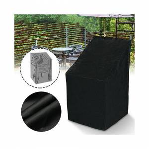 Unbranded Strong Waterproof Stacking High Back Chairs Cover Garden Furniture Covers