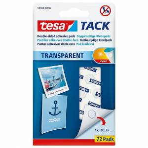 TESA Transparent Tack Double sided adhesive pads 72 pads