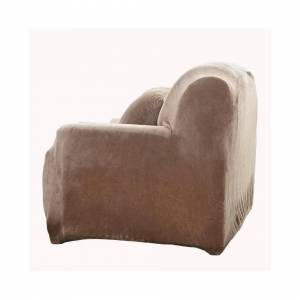 JS One (7. Camel, 1 Seater(90-140cm)) Stretchable 1/2/3/4 Seater Sofa Cover Slipcover S