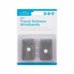 Unbranded 2 Pack Travel Sickness Wristbands Motion Nausea Journeys And Trips One Size