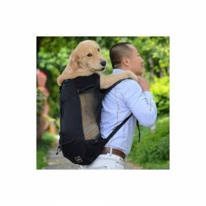 Slowmoose (Black, M) Breathable Pet Dog Carrier Bag for Large Dogs - Golden Retriever Bull