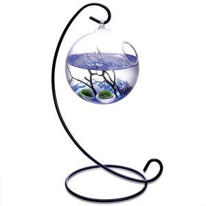 MornBee Table Aquarium Kit 2 x 10 mm Aquatic Living Moss Balls (Sea Blue)