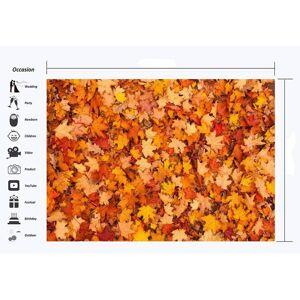 Unbranded Haosphoto Autumn Backdrop 7X5FT Golden Falling Leaves Vinyl Backdrops Rural Fall