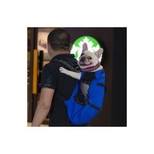 Slowmoose (Blue, M) Breathable Pet Dog Carrier Bag for Large Dogs - Golden Retriever Bulld