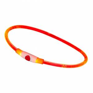 UltraByEasyPeasyStore (Red) USB Rechargeable Flashing LED Dog Collar Pet Safety Adjustable Light Up Ni