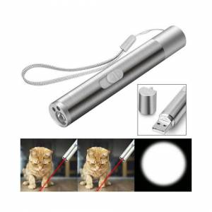 Unbranded 3 in 1 Rechargeable USB Powered Cat Laser Pointer Toys Cats Training Flashlight