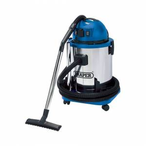 Draper 50L Wet and Dry Vacuum Cleaner with Stainless Steel Tank and 230V Power Tool Soc