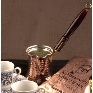 The Turkish Emporium Turkish Coffee Pot Ibrik Cezve Wooden Handle