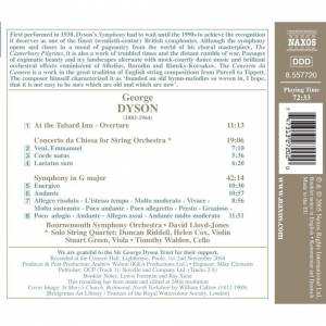Naxos Dyson: Symphony in G major; Concerto da Chiesa, At the Tabard Inn