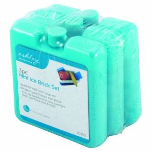 The Home Fusion Company Pack Of 3 Mini Ice Blocks Freeze For  Cooler Bags & Picnics Great For Travel & R