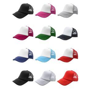 beckham Summer Plain Trucker Mesh Hat Snapback Blank Baseball Cap Adjustable Size