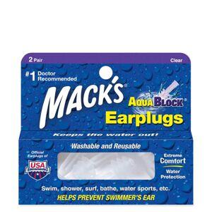 Mack's Macks Aqua Block Ear Plugs - Clear, 2 Pairs