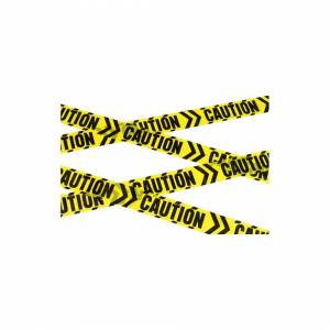 Unbranded Caution Chevron Tape, Black & Yellow, 6m / 236in - Yellow Tape Long Accessory -