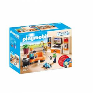 Playmobil 9267 City Life Living Room with Working Lights