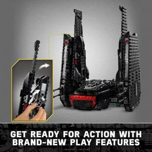 Lego 75256 Star Wars Kylo Ren's Shuttle Starship Construction Set with 2 Spring