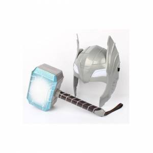 Slowmoose (Type) Thor LED Light, Sounding Helmet Weapon Model Toy For Child Cosplay