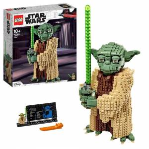 Lego 75255 Star Wars Yoda Construction Set, Collectable Model with Display Stand