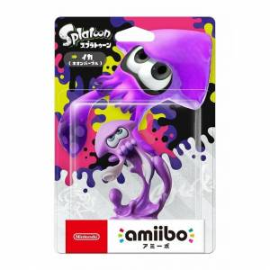 Nintendo [Limited offer] Brand NEW Nintendo amiibo Squid Neon purple Splatoon Ika Figure
