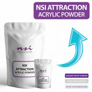 NSI Attraction (Crystal Clear, 20g) NSI Acrylic Powder Nail Set Kit VARIOUS SIZES of Crystal Cl