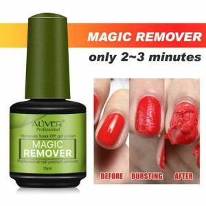 Aliver Magic Soak-Off Gel Nail Polish Remover - 15ml