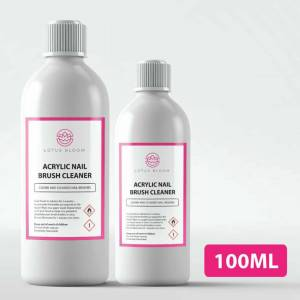 Lotus (100ml) Acrylic Nail Brush Cleaner POWERFUL Liquid Cleaner for Acrylic Gel Nail