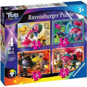 Ravensburger 5059 Trolls 2 World Tour, 4 in a Box (12, 16, 20, 24pc) Jigsaw Puzz
