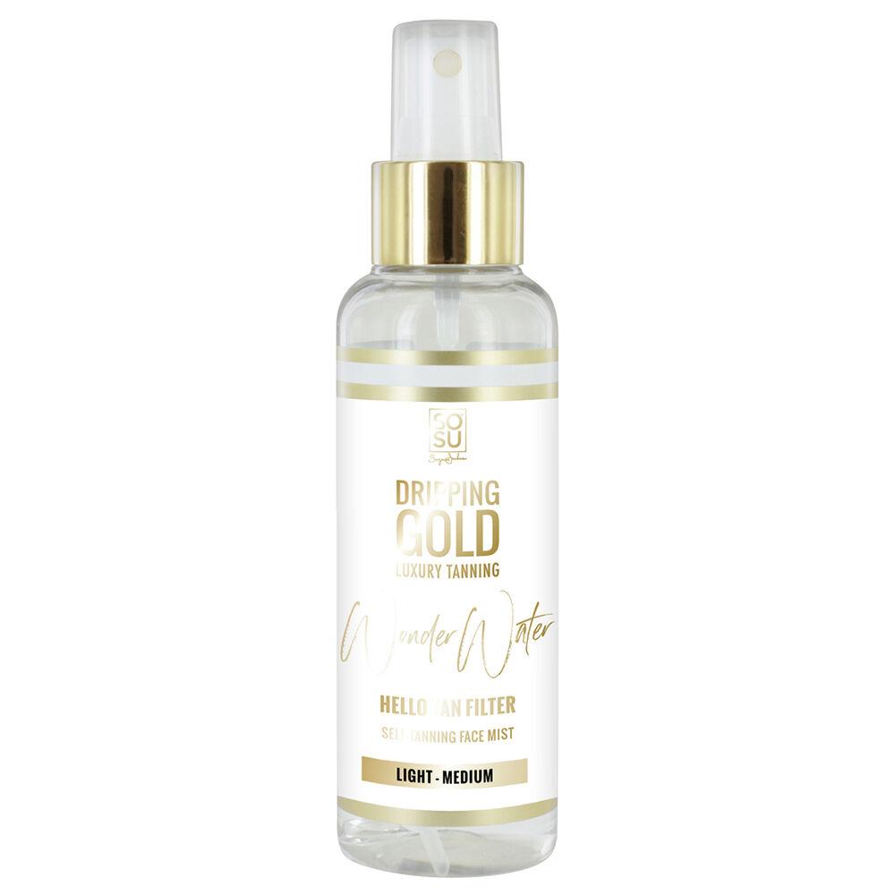 Jackson Dripping Gold Wonder Water Self Tanning Facial Mist Light Medium 100ml