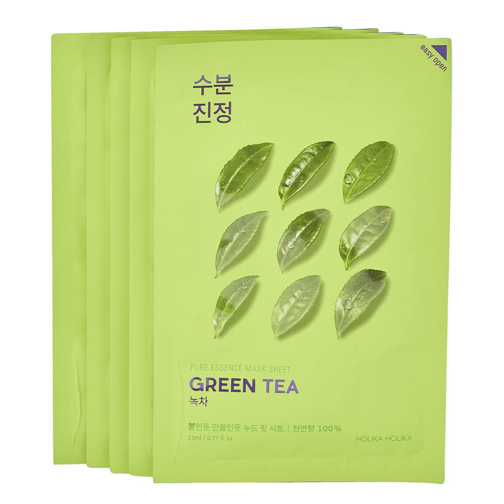 Holika Holika Pure Essence Mask Sheet Green Tea Pack 5pieces
