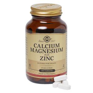 Solgar Calcium Magnesium Plus Zinc Tablets 100caps