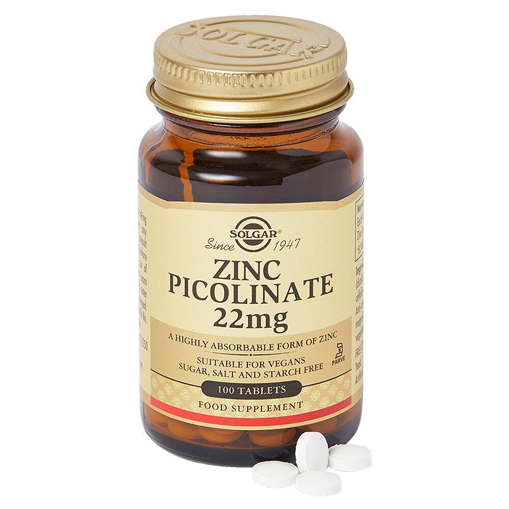 Solgar Zinc Picolinate 22 mg Tablets 100caps