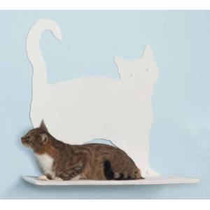 REFINED KIND PET PRODUCTS Cat Silhouette Cat Shelves Prance Red