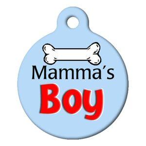 DOG TAG ART Mamas Boy Pet ID Tag Large