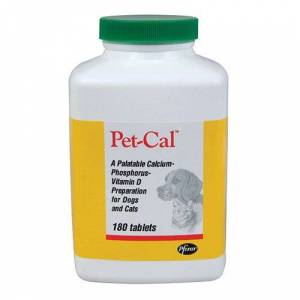 MWI ANIMAL HEALTH Pet-Cal Supplement for Dogs and Cats 60 Count