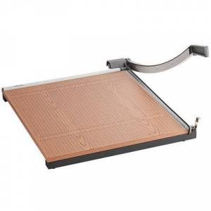 """X-Acto """"X-Acto 26624 24"""""""" Square 20 Sheet Commercial Guillotine Paper Trimmer with Wood Base"""""""