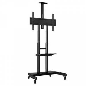 """Luxor """"Luxor FP4000 Adjustable Height TV Cart with Shelf for 40"""""""" to 80"""""""" Screens"""""""