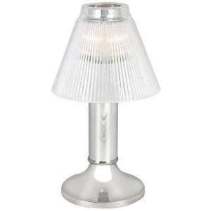 """Sterno """"Sterno 80478 10"""""""" Paige Chrome Lamp with Duchess Clear Shade"""""""
