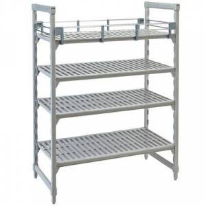 "Cambro ""Cambro CPR1460151 Full Shelf Rail Kit for 14"""" x 60"""" Cambro Camshelving Premium Stationary or Mobile Units"""