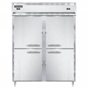 "Continental Refrigerator ""Continental DL2RFE-SS-PT-HD 57"""" Solid Half Door Extra-Wide Dual Temperature Pass-Through Refrigerator/Freezer"""