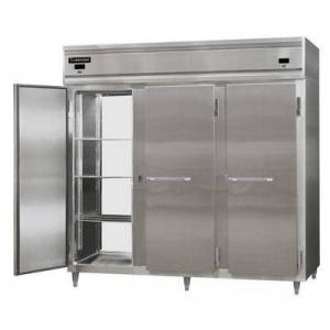 "Continental Refrigerator ""Continental DL3RRFE-SS-PT 86"""" Solid Door Extra-Wide Dual Temperature Pass-Through Refrigerator/Refrigerator/Freezer"""