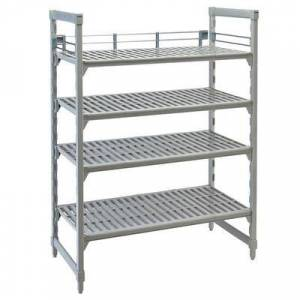 "Cambro ""Cambro CPR18603151 Three-Quarter Shelf Rail Kit for 18"""" x 60"""" Cambro Camshelving Premium Stationary or Mobile Units"""