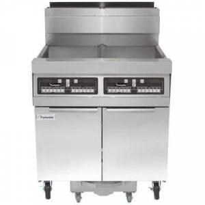 Frymaster SCFHD260G 160 lb. 2 Unit Natural Gas Floor Fryer System with CM3.5 Controls and Filtration System - 250,000 BTU