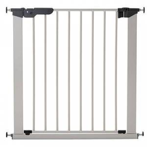"""L.A. Baby """"L.A. Baby SG-PP117-S BabyDan Premier 28 15/16"""""""" to 36 3/4"""""""" Silver Pressure Mount Safety Gate with 2 Extensions"""""""