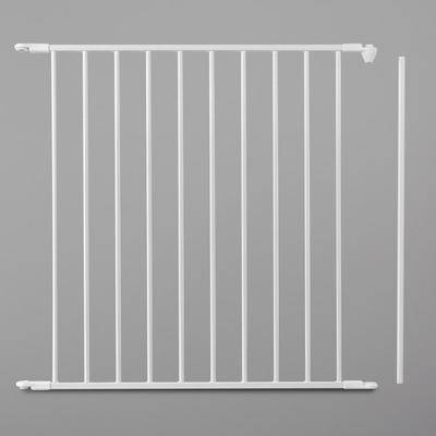 "L.A. Baby ""L.A. Baby SG-F-EXT28W BabyDan FLEX 28 7/16"""" White Safety Gate Extension Panel"""