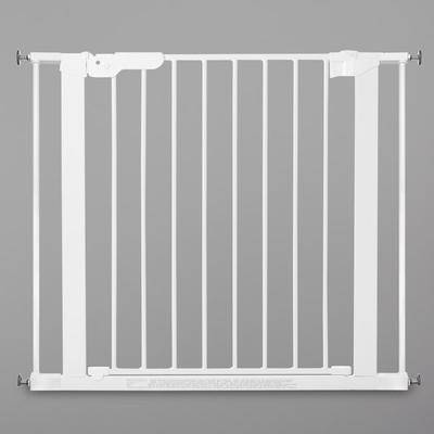 "L.A. Baby ""L.A. Baby SG-PP114-W BabyDan Premier 28 15/16"""" to 36 3/4"""" White Pressure Mount Safety Gate with 2 Extensions"""