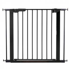 "L.A. Baby ""L.A. Baby SG-PP116-B BabyDan Premier 28 15/16"""" to 36 3/4"""" Black Pressure Mount Safety Gate with 2 Extensions"""