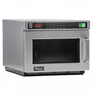 Amana Commercial Microwaves Amana HDC12A2 Heavy Duty Stainless Steel Commercial Microwave with Push Button Controls - 120V, 1200W