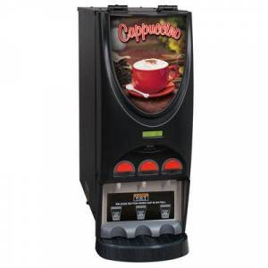 Bunn 36900.0050 iMIX-3 BLK Powdered Cappuccino Dispenser with 3 Hoppers - 120V