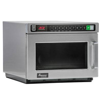 Amana Commercial Microwaves Amana HDC182 Heavy Duty Stainless Steel Commercial Microwave with Push Button Controls - 208/240V, 1800W