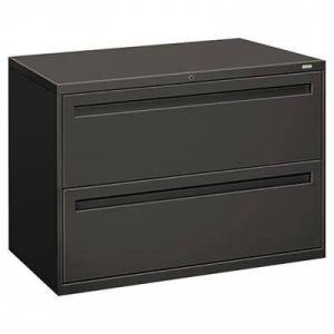 """Hon """"HON 792LS 700 Series Charcoal Two-Drawer Lateral Filing Cabinet - 42"""""""" x 19 1/4"""""""" x 28 3/8"""""""""""""""